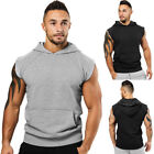 USA Men Muscle Hoodie Tank Top Bodybuilding Gym Workout Sleeveless Vest T-Shirt image