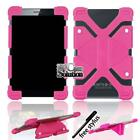 """For Various 7"""" 8"""" Tablet Universal Bumper Silicone Stand Cover Case + Pen"""