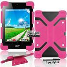 "Bumper Silicone Stand Cover Case For Various 7"" 8"" Acer Iconia Tablet + Pen"