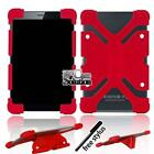 "Bumper Silicone Stand Cover Case For Various 7"" 8"" IRULU Tablet + Stylus"