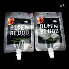 2x 250ml Reusable Blood Bags Halloween Party Haunted House Drink Container Decor
