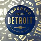 Sticker - Imported From Detroit Circle - Blue Chrome