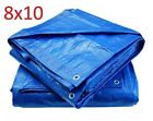 Blue Poly Tarp Cover Water Proof Tent Shelter Tarpaulin Waterproof Rip Grommets