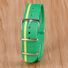 20mm Watch Band Green Yellow Nylon Canva Replacement Wrist Bracelet Watch Strap