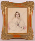 "Carl Friedrich Naumann ""Portrait of a Young Lady"" 1838, high quality watercolor!"