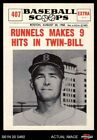 1961 Nu-Card Scoops #407  Pete Runnels  - Makes 9 Hits in Twin-Bil Red Sox NM/MT