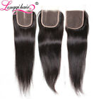 Cambodian Straight Virgin Hair Lace Closure 100% Straight Human Hair Weave USPS