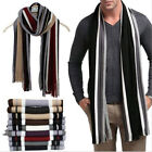 Winter Herren Winterschal Warm Feinstrick Strickschal Wollschal Faux Wrap Schal
