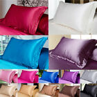USA Simulation Silk Satin Soft Pillow Cases Bedding Fitted Pillow Cases Cushion image