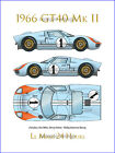 1966 GT 40 illustrated digital print ~ 9x12