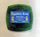 Eggwhite Facial Soap w/ Chamomile Flowers & Lecithin and Green Glass Soap Dish
