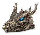 STEAMPUNK DECORATIVE COMBINATION SAFE DRAGON HEAD TRINKET BOX Statue Figure