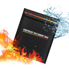 Fireproof Waterproof Document Bag Money Safe Box Secret File Protect Pouch Case