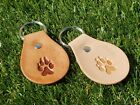 Matching Paw Print Key Fob with our Leather Dog Collars