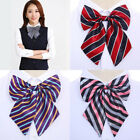 1PC Simulated Silk Bow Tie Necktie for Uniform Women Pre-tied Handmade Bowtie