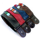 Nylon Guitar Strap Pick Holders Electric Acoustic Accessorie