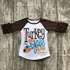 Happy Thanksgiving Toddler Baby Girl Turkey Print T-shirt Tops Cotton Outfits