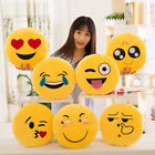 Внешний вид - 32cm Soft Round phiz Smiley Emoticon Stuffed Plush Toy Doll Pillow Case Cover L