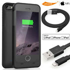Top Thin External Charger Battery Power Bank Case Cover iPhone 5 5S SE+USB Cable