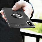 For iPhone 7 8 X Plus Slim Magnetic Soft TPU Back Case Ring Holder Kickstand UK