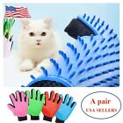 A pair of Pet gloves Work Grooming Gloves Hair Removal Brush For Dogs Cats New
