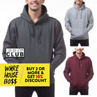 PROCLUB PRO CLUB MENS PLAIN PULLOVER HOODIE CASUAL HEAVYWEIGHT HOODED SWEATSHIRT