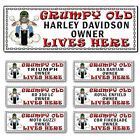 Harley Honda Yamaha Ducati BMW Grumpy old motorbike owner lives here Metal Sign £6.95 GBP on eBay