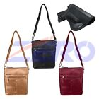 VISM Leather Concealed Carry Gun Purse CCW Crossbody Messenger Bag Holster