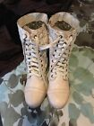 Delia's wanted Forge Natural Lace Combat Boots New! Size 9