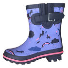 Harry Hall Hale Junior Wellingtons, Childrens Boots in Purple