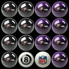 NFL Billiard Ball Set - The Ultimate Baltimore Ravens Fan Pool Table Ball Set $384.51 USD on eBay