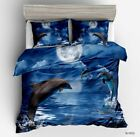 Mega Sale 3D Dolphin Animal Bedding Set 3Pcs Duvet Cover ( Twin, Queen, Full) image