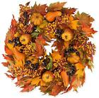 Montgomery Hollow Silk Fall Door Wreath 26 Inch/Wreath Ha...