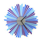 The Moon - elegant wooden wall clock with shades of blue / purple by ardeola