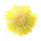 The Sun - contemporary wooden  wall clock in shades of yellow / gold by ardeola