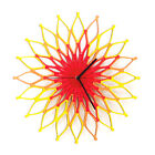 Fireworks I - large wooden wall clock, a red / yellow sunburst clock by ardeola