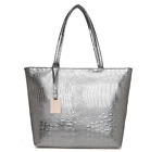 Women Designer Handbags Casual Large Capacity Alligator Leather Totes Bags Gifts, used for sale  Shipping to Canada