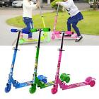 Three Colors Kids Scooter Foldable Printed Electric PU 3 Wheels LED Outdoors New