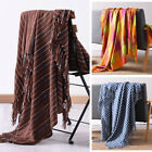 Plaid Soft Throw Blanket Bedspread for Bed Sofa Couch Chair w/ Decorative Fringe image