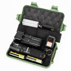 XM-L T6 LED LED Zoom Military Tactical Flashlight Torch Light Lamp Zoom Blinding