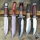 Combat SURVIVAL Hunting Tactical BOWIE Hard Wood Fixed Blade FULL TANG Knife