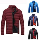 Fall Winter Men Collar Solid Color Casual Down Cotton Large Size Cotton Coat HOT