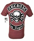 ARCHAIC by AFFLICTION Mens T-Shirt KING Cross Skull Wings MMA Biker Gym S-2X $40 image