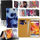 For Various ZTE Smartphones - Leather Wallet Card Stand Flip Case Cover+ Stylus