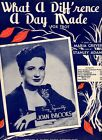 1934 WHAT A DIFF'RENCE A DAY MADE GREVER ADAMS JOAN BROOKS ANTIQUE SHEET MUSIC