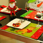 New Christmas Table Mats Decor Fork Sets Of Dual-use Table Mats Pad Placemat HOT