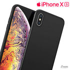 Black Gel TPU Skin Jelly Soft Case Cover For iPhone X  iPhone Xs Max  iPhone XR
