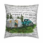 Glamping Rving Camping Retro Throw Pillow Cover w Optional Insert by Roostery