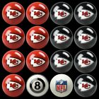 NFL Billiard Ball Set - The Ultimate Kansas City Chiefs Fan Pool Table Ball Set $256.49 USD on eBay