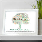 Family Tree Personalised Our Family Gifts Family Christmas Birthday Home Print